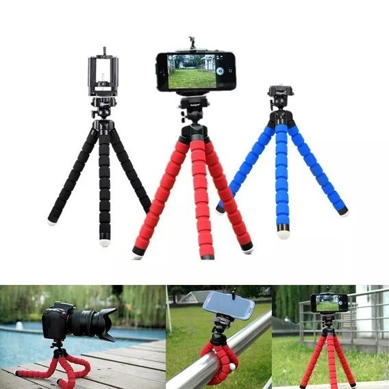 Mini Tripé Flexível Ajustável Suporte P/ Celular Fotos Vídeo