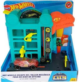 Hot Wheels City Fuga Do Dino Na Oficina Gbf91 - Mattel