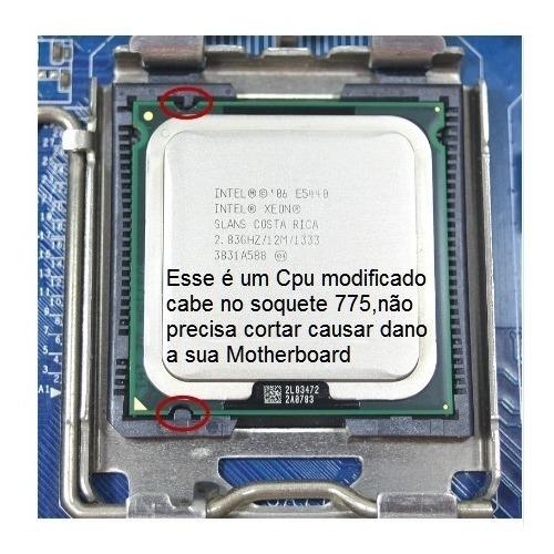 Intel Xeon E5440 2.83ghz12 Mb Processador 775 + Pasta