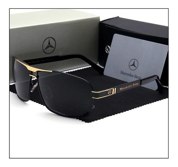 Óculos De Sol - Mercedes Benz - Lentes Polarizadas Mb722 65