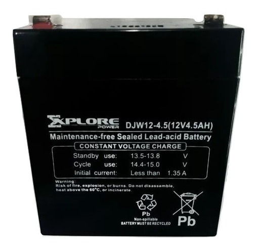 Batería 12v 4.5ah Pila Ups Lámpara Alarma Cercos