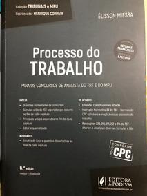 Processo Do Trabalho Analista Trt E Mpu 2017 Reforma Trab