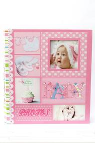 Álbum De Fotos Baby Rosa -300 Fotos 10x15 Cm Com Visor