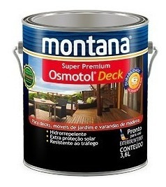 Osmotol Deck Verniz Impermeavel Natural Montana 3,6 Lts