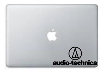Adesivo Sticker Audio Technica Dj Deejay Estúdio - Atec-1