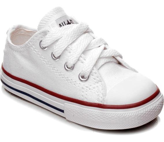 Tênis Infantil All Star Cano Baixo Branco Converse Original