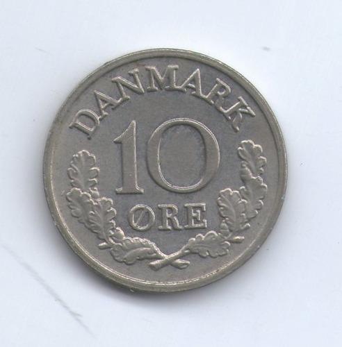 Moneda De Dinamarca 10 Ore Año 1969 Exc