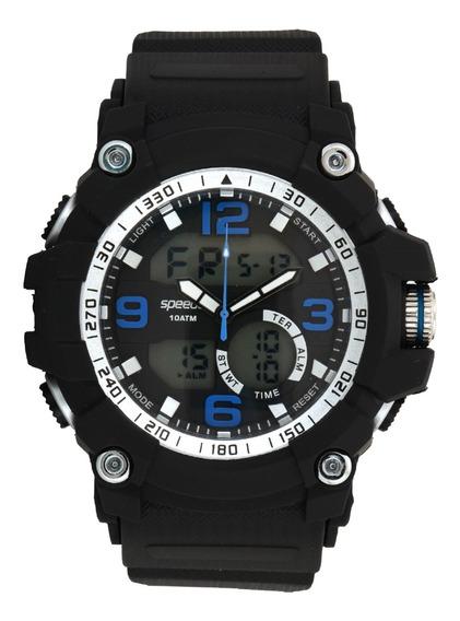 Relógio Masculino Speedo 81129g0evnp4 Preto/prata