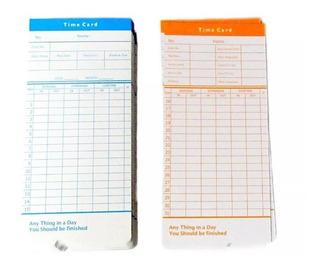 Set 100 Tarjetas Reloj Control Asistencia 80215 Factorynet