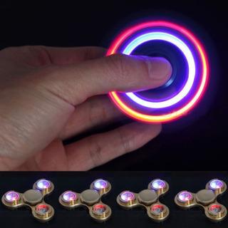 Ruleta Flash Led Luz Fidget Dedo Bola Foco Aluminio Cerámica
