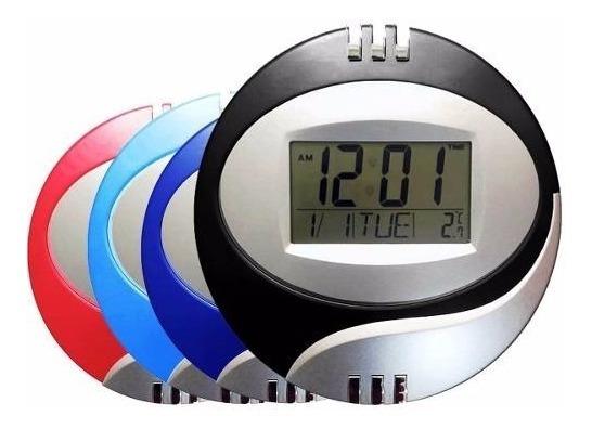 Relógio De Parede E Mesa Alarme 20cm Digital Calendário Temp