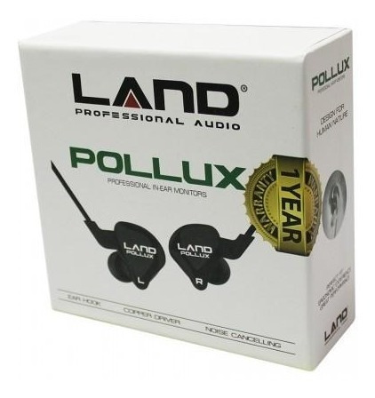 Fone Land Audio Pollux Professional Earphone + Cabo Extra