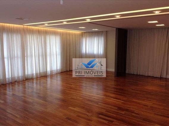 Apartamento À Venda, 275 M² Por R$ 2.900.000,00 - Boqueirão - Santos/sp - Ap0474