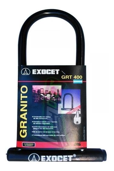 Candado U Exocet Grt 400 Larga Y Gruesa Seguridad Rpm925