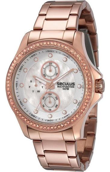 Relógio Dourado Feminino Séculus