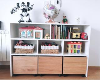Mueble Juguetero Organizador Infantil Cubos Ruedas Estantes