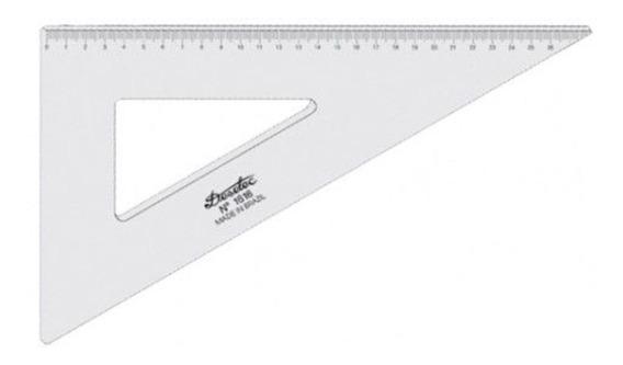 Esquadro Acrílico 30,60,90º C 2mm Desetec 16cm. 1616 Trident