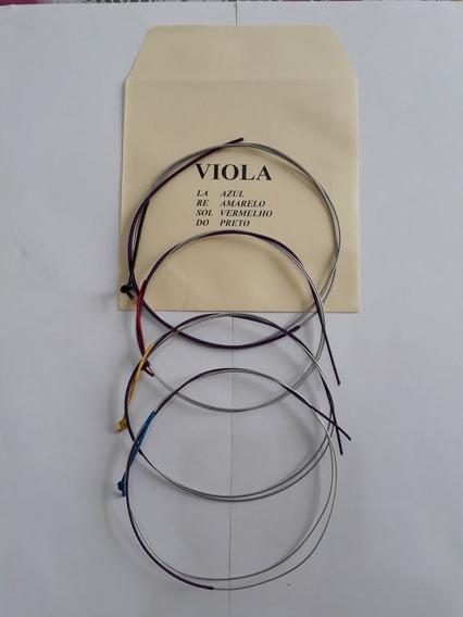 Jogo C/ 4 Cordas Para Viola De Arco Mauro Calixto***