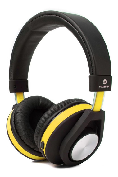 Headphone Bluetooth Gt Follow Goldentec Amarelo (gt5btam)