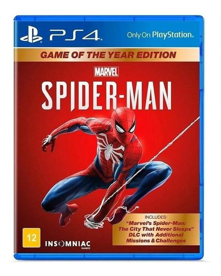 Jogo Spider-man Ps4 Mídia Física Lacrado