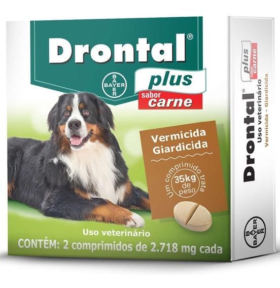 Drontal Plus Cães 35 Kg- 2 Comprimidos Val. Jan/2021