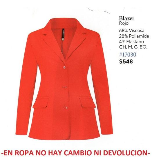 Saco/blazer Rinna Bruni 17030 Rojo Outlet /saldos Mchn