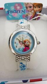 Relógios Da Frozen Original Com 1 Spinner De Brinde