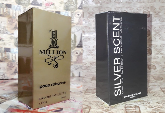 Kit Promoção Perfumes Masculinos,1 Million /silver Sent