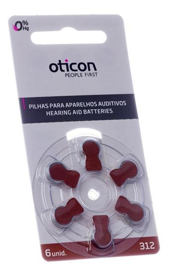 60 Pilhas Aparelho Auditivo 312 / Pr41 - Oticon