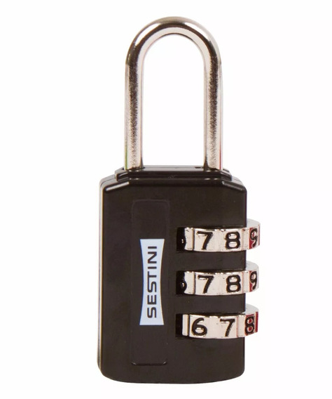 Cadeado Para Malas Com Segredo 3 Dígitos Sestini - 9591