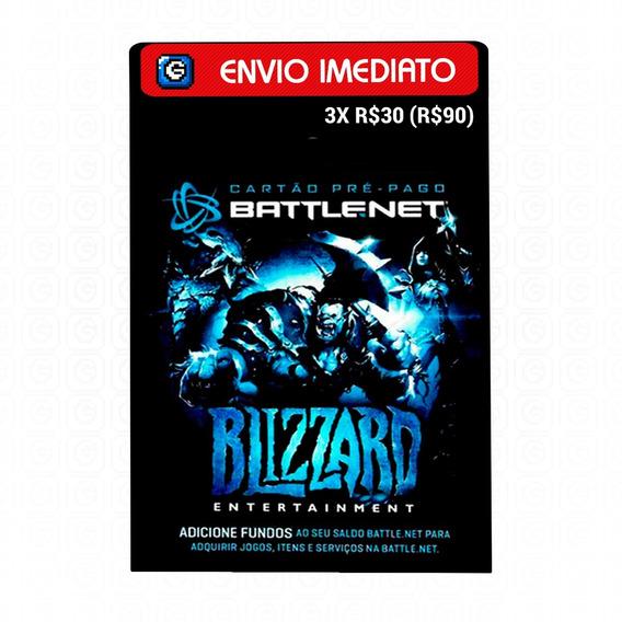 Cartão Battle.net Blizzard Wow R$ 90 (3x R$30) Reais