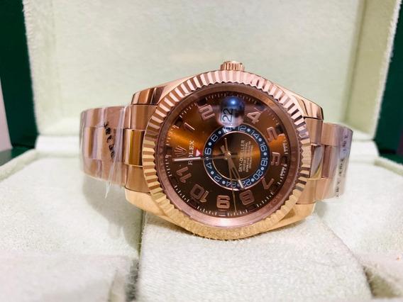 Relógio Mod. Sky Dweller 40mm Gold Rose Automático 12x S/jrs