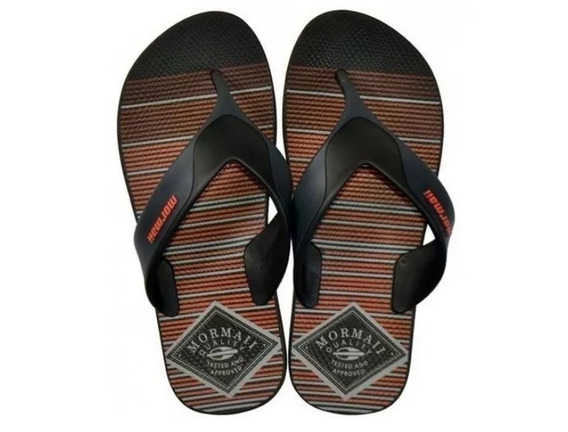 Chinelo Mormaii Neocycle 2.0 - Preto / Laranja