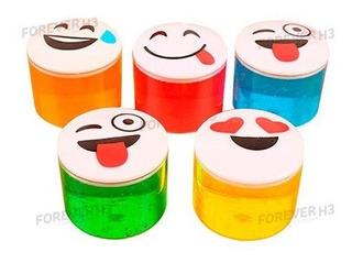 20 Mini Tubos Emojis Moco De Gorila Slime Colores Económico