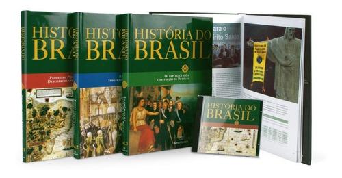 Livro História Do Brasil Barsa: 4 Livros + 1 Cd