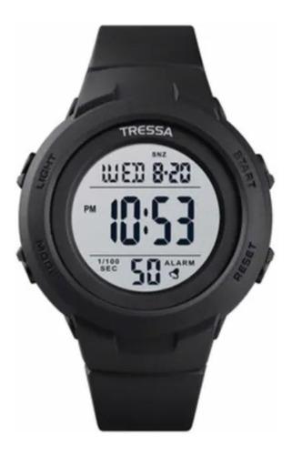 Reloj Digital Tressa Negro Con Funciones Mod. Cactus