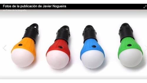 Imagen 1 de 10 de Foco Led A Pila Con Gancho Varios Colores - Ideal Luz Carpa
