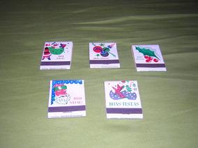 Lote Com 5 Caixas De Fósforos Antigas De Natal E Boas Festas