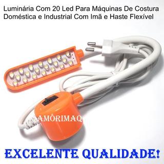 Luminária Luz Led Máquinas De Costura C/ Imã Haste Flexível
