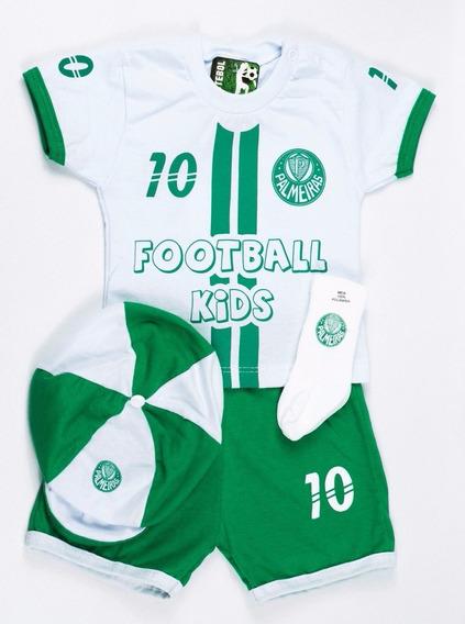 Kit 4 Peças Conjunto Futebol Verdao Para Mininos