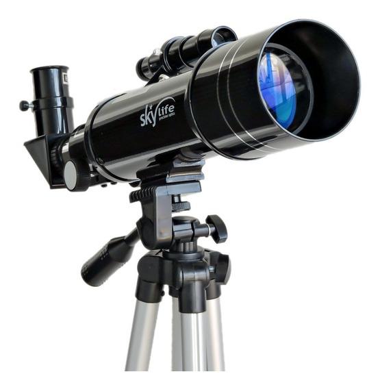 Telescópio Astro / Terrestre Tcrater 2.8 70mm + Tripé Alto