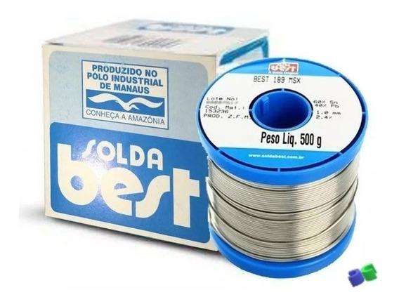 2 Rolos - Solda Best 1mm - Estanho - 189msx10 - Azul - 500g