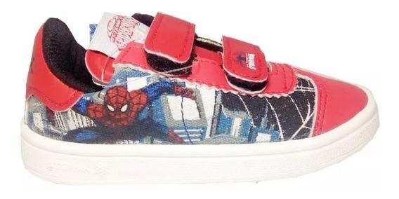 Zapatillas Spiderman Marvel Abrojos Original Fty Calzados