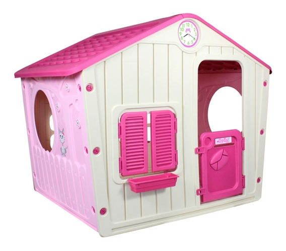 Casinha De Brinquedo Infantil Criança Pink 561110 Belfix