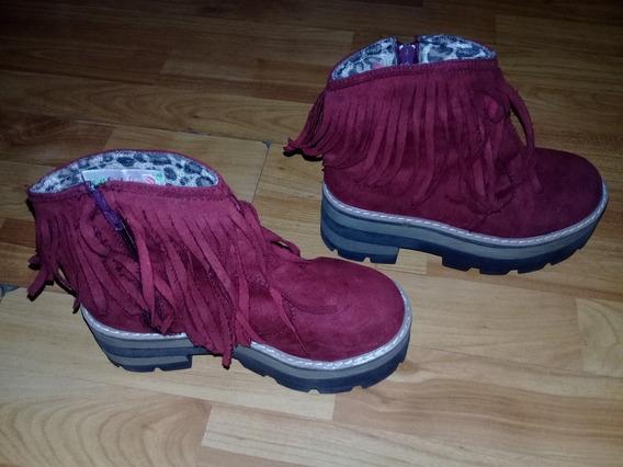 Botas Nena Con Flecos, Botitas Nena,calzado Infantil Talle31