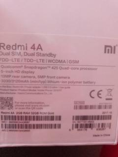 Celular Xiaomi Readmi 4a 32g