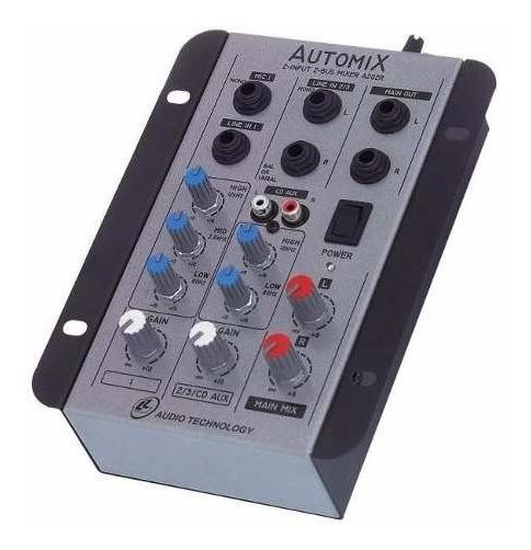 Mesa De Som 2 Canais Ll Automix A202r 12 Volts - Carro