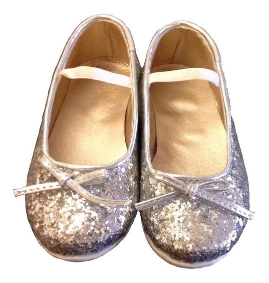 Chatitas Ballerinas Zapatos Glitter Bebe Nena Talles 21 A 26