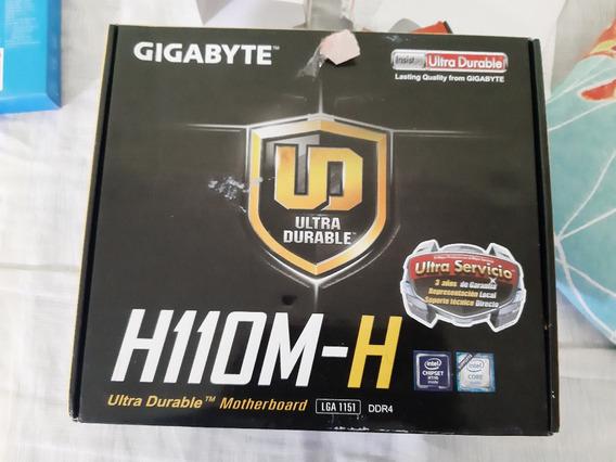 Kit Pc Gigabyte H110m-h, 8gb Ddr4, I3 7100, Ssd 120, Hd 500
