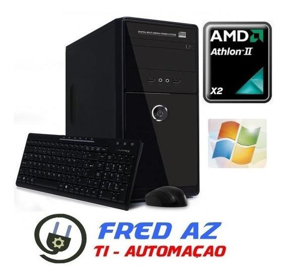 Pc Desktop Computador Amd X2 Ii C/ Wifi Teclado E Mouse Novo